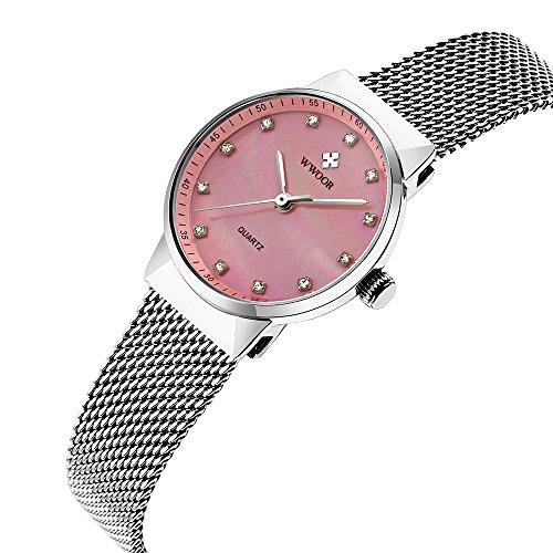 2017new Brand women watches dress ladies quartz wristwatch women stainless straps rose golden crystal WR0016