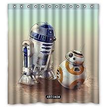 """abigai ARTSWOW Star Wars Custom Printed Waterproof fabric Polyester Bath Curtain Bathroom Decor Shower Curtain 60""""(w) x 72""""(h)"""