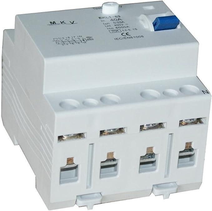 Fehlerstromschutzschalter SR6HM 4P 63A//30mA A  FI Schalter Schutzschalter