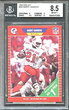 Amazoncom 1989 Pro Set 494 Barry Sanders Detroit Lions Rookie