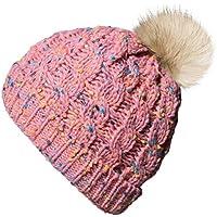 Amandir Kids Winter Hats Fleece Lined Knit Toddler Girls Beanie Baby Confetti Warm Pom Pom Cap