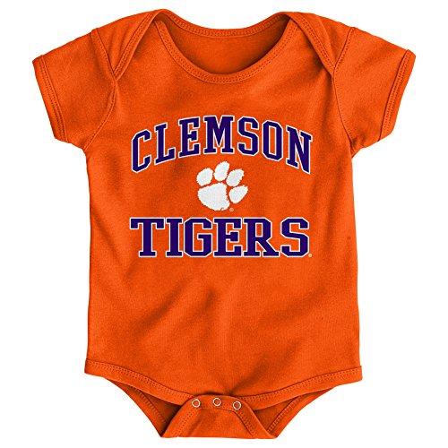 Gen 2 NCAA Clemson Tigers Newborn & Infant Primary Logo Bodysuit, 6-9 Months, Orange - Clemson Tigers Logos