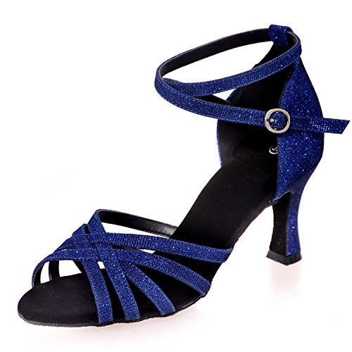 da Elobaby Basso Tacco Tacco Scarpe in su 42 Medio 34 Toe Jazz Peep Blue Ballo Raso 5cm Piattaforma Tacco Personalizzata da 7 Donna qrxt8r1