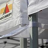 ABCCANOPY Industrial Grade White 10ft Canopy Rain Gutter/Light Gutter 10' X 10' Canopy Pop up Tent -White