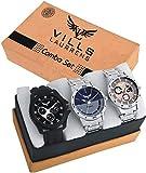 Vills Laurrens Analogue Multicolor Dial Combo Of 3 Men's & Boy's Watch - Vl-1111-1112-1113