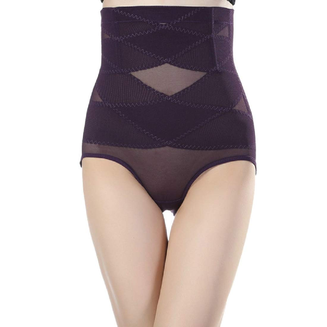 Domple Womens High Rise Tummy Control Butt Lift No Trace Slim Fit Skinny Panty