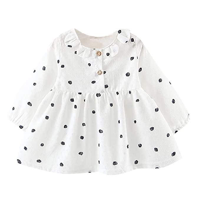 Xmiral Vestido con Estampado Lunares Manga Larga para Bebes ...