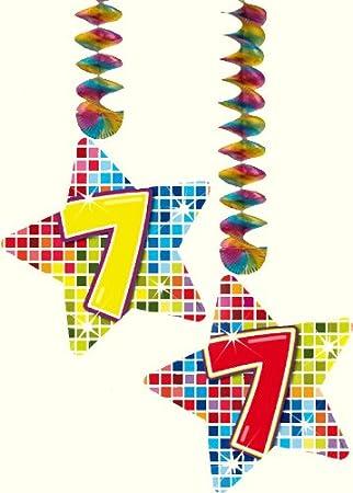 2 x Techos Decoración * * Cumpleaños (7 cumpleaños para ...