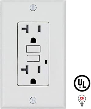 Gfi Gfci Outlet 20 Amp 120 V 10 Pack White Electric Plugs Amazon Com