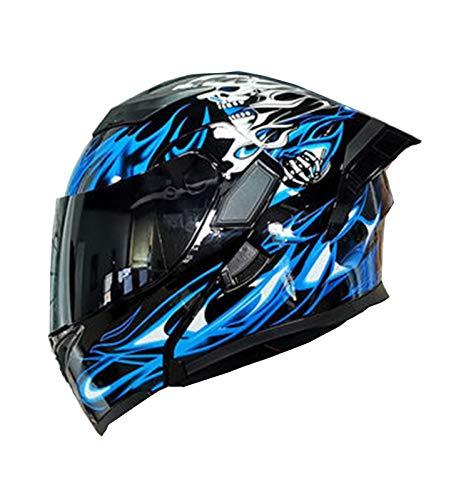 ABDOMINAL WHEEL Klapphelm Modularer Motorrad Helm,Motorradhelm Mit Sonnenblende,Full Face Motorrad Helm Aus ABS-Material…