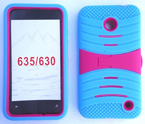 uSKYBLUE/Pink Phone Case Cover for Nokia Lumia 635 / Nokia Lumia 630 / RM-977 975 (Pink 635 Case Phone Nokia)