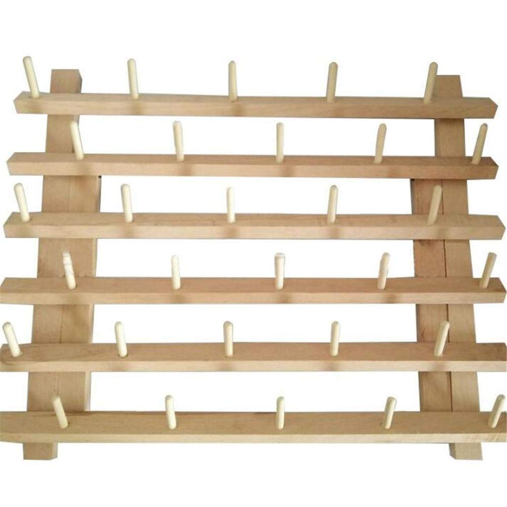 Foldable Thread Rack Wood Thread Holder 30 Spool Thread Wooden Storage Rack Thread Spool Stand Sewing Cone Storage Organiser, Sewing Quilting Embroidery Bobbin Orgainzer & Rack, Sewing Craft Tools by WElinks