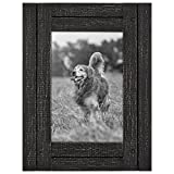 Americanflat 4x6 Charcoal Black Distressed Wood Frame Made to Display 4 Deal (Small Image)