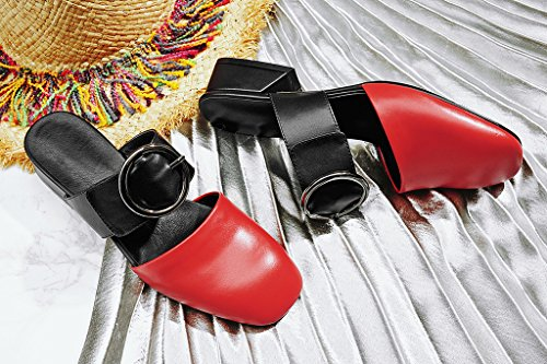 Mules Camore Femme Calaier pour Red q7Sqw85n