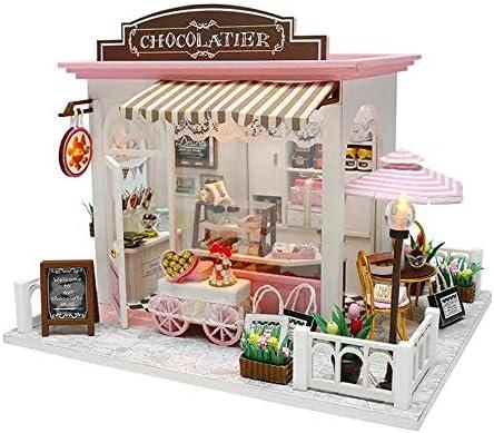 ドールハウス 家具 Cocoaのファンタスティックアイデアをカバー音楽ムーブメントギフトの装飾おもちゃDIYドールハウス 子供 知育玩具 入園祝い 入学祝い ギフト (Color : Multi-colored, Size : One size)