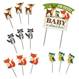 Baby : Lillian Rose Woodland Baby Shower Cake Toppers