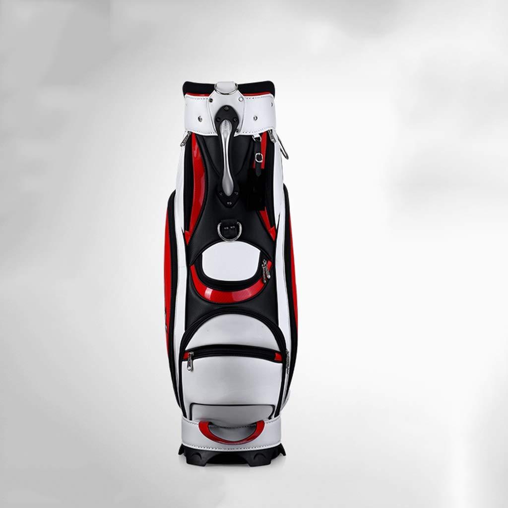ゴルフバッグ、軽量バッグ、防水PU大容量、マルチカラーオプション happyL (Color : 赤) 赤