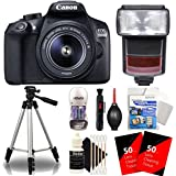 Canon EOS 1300D / Rebel T6 18MP Digtal SLR Camera with 18-55mm IS STM Lens , TTL Speedlite Flash and Accessory Bundle