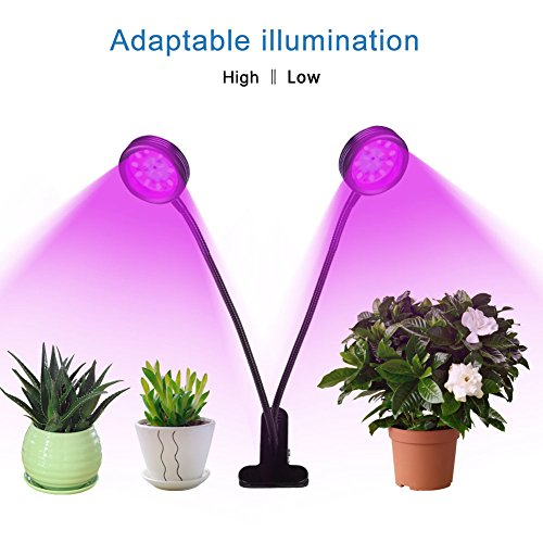 LED-Growth-Light-INKERSCOOP-Horticultural-Plant-Lighting-with-Timer-Remote-Control3H6H12H-Dual-Head-12W-LED-5-Modes-Brightess-Lamp-for-Indoor-Plants-Greenhouse-Office