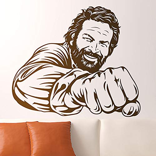 mlpnko Adhesivo Mural Famoso Comediante Italiano Retrato Vinilo Decorativo Humor decoracion de la Pared 75x113cm