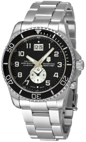 - Victorinox Maverick GS Black Dial Stainless Steel Men's Watch 24144.1