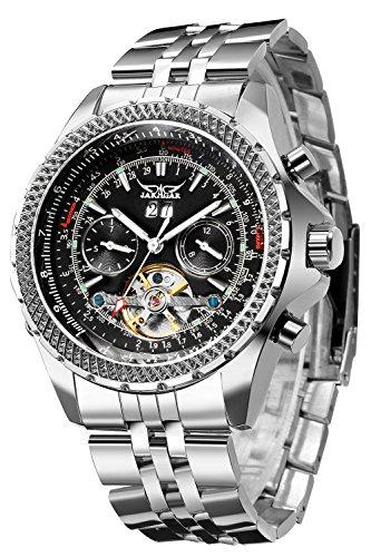 GuTe Classic Multi Functional Automatic Mechanical Watch Luminous Tachymetre Black Face