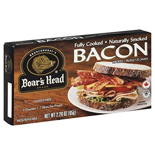 Boar's Head Fully Cooked Bacon 2.29 OZ(Pack of 4) by Boar's Head