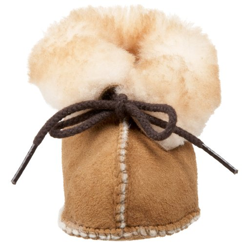 Minnetonka Sheepskin Bootie, Mocasines para Bebés marrón