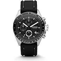 Fossil Men's CH2573 Decker Stainless Steel Chronograph Watch With Black Silicon Band