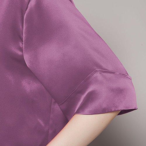 LILYSILK Camisión de Seda Estilo Casual - 100% Seda de Mora Natural de 22MM de Grado 6A, Super Cómoda y Transpirable Violeta