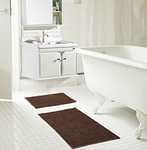 RT Designers Collection Kara Short Pile Chenille 2 Piece Bath Mat Set, 20