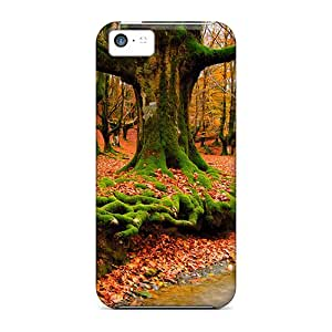 Casecover88 Fashion Protective Falling Autumn Leaves Cases Covers For Iphone 5c