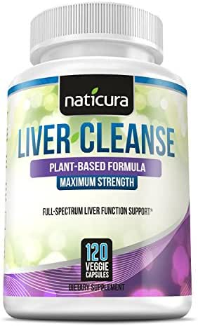 Liver Cleanse Plant Based Detox - 60 Day Healthy Liver Support and Detox Supplement - 120 Capsules with Milk Thistle, Chanca Piedra, NAC and Enzyme Boost