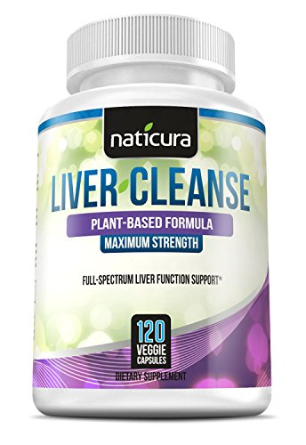 Liver Cleanse - Naticura 60 day Liver Support & Detox Natural Supplement 120 capsules for Healthy Liver Function & Detoxification - With Milk Thistle, NAC, ALA, GSE & Enzyme Boost
