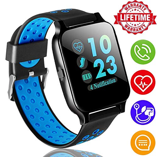 ONMet Fitness Tracker Smart Watch for Women Men Kid with Heart Rate Blood Pressure Sleep Monitor GPS Activity Tracker Run Outdoor Sport Watch Pedometer Calorie Sync Phone for Android iOS by ONMet