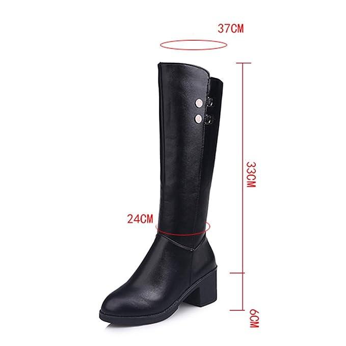 995ac87c8e1 Amazon.com: Cywulin Women's Fashion Zipper Mid Calf Boots, Ladies ...