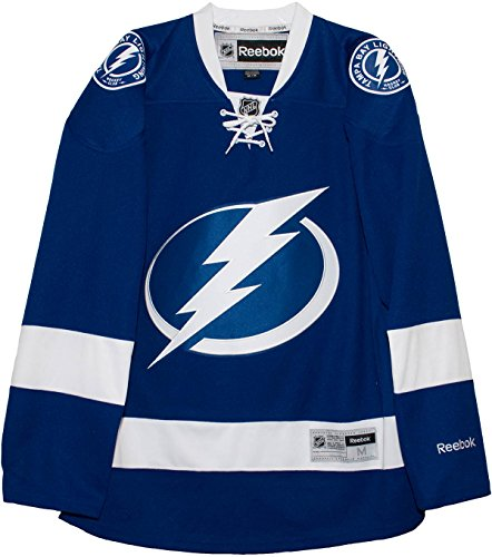 fan products of NHL Tampa Bay Lightning Men's Center Ice Team Color Premier Hockey Jersey, X-Large, Royal
