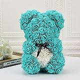Gifts for Women - Rose Teddy Bear - Rose Flowers