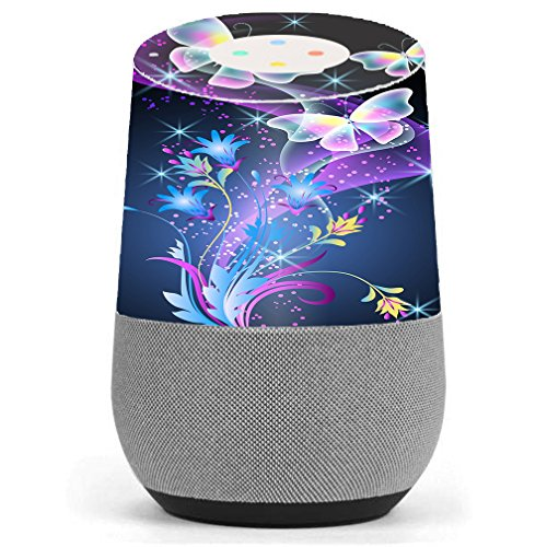 Skin Decal Vinyl Wrap For Google Home Stickers Skins Cover  Glowing Butterflies In Flight