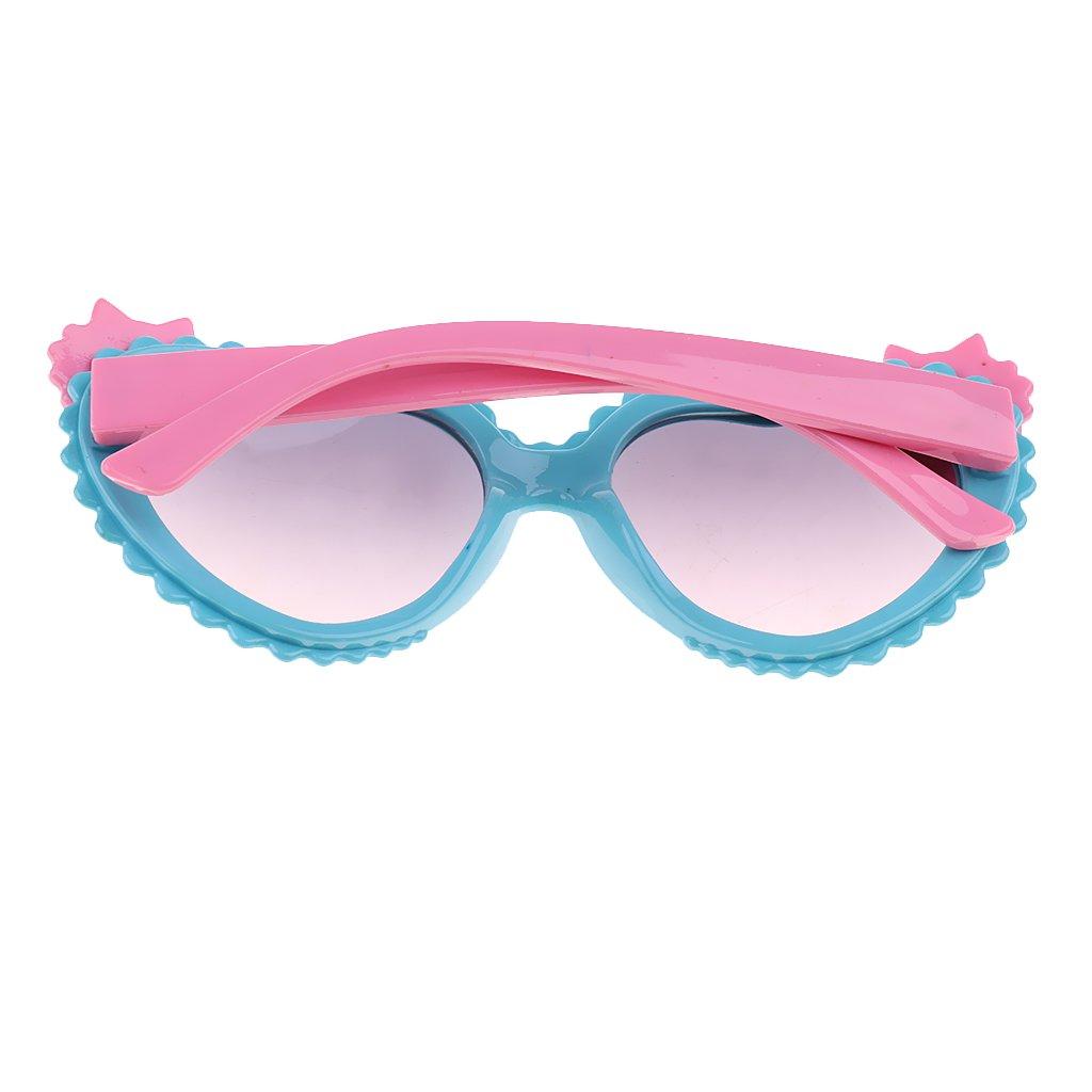 Homyl Lunettes de Soleil pour Enfant Fille Protection 100% UV 400 - Cadre  Ultra-léger Moti de Pêche - Bleu Rose, Unique  Amazon.fr  Vêtements et  accessoires c80a6fe878fd