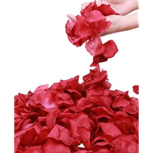 Simplicity 1000 Pcs Rose Petals Wedding, Anniversary, Party Decoration,Dark Red 8