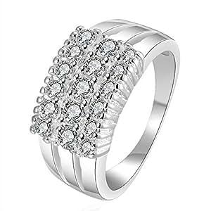 Fashion Boutique 925 Silver Classic Zircon Ring 8