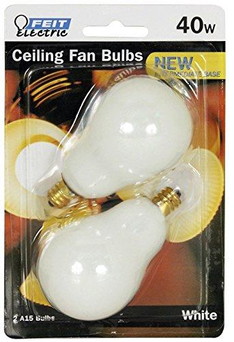 (Ship from USA) Feit Electric BP40A15C/W/CF 40 Watt White Ceiling Fan Light Bulb 2 Count /ITEM NO#8Y-IFW81854285834