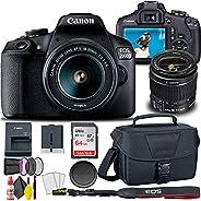 Canon EOS 2000D / Rebel T7 DSLR Camera with 18-55mm Lens + Creative Filter Set, EOS Camera Bag + Sandisk Ultra
