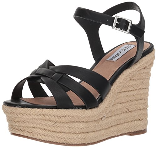 Black Women's M Sandal 9 Wedge Us Knight Steve Madden vnqTBB