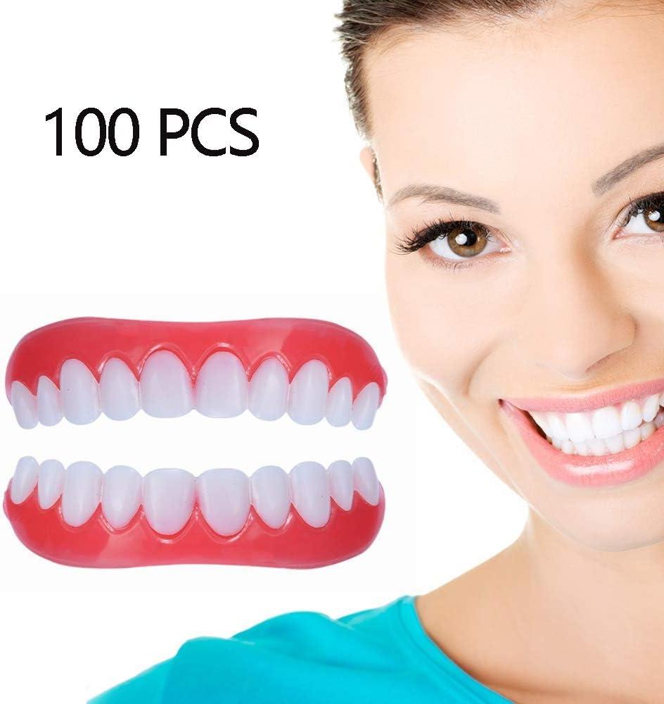 パーフェクトスマイル用の新しい快適な審美歯用ベニア義歯義歯用義歯上顎および下顎の義歯,100pairs