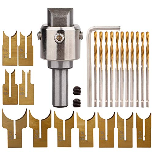 GREENWISH Wooden Beads Buddha Drill Bit 6-25 mm Hardness Woodworking Milling Cutter Wood Router Bit Tungsten Steel Alloy Coated Cemented Carbide Spherical Woodworking Tool Kit