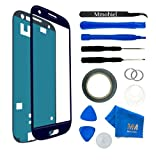 Front Glass for Samsung Galaxy S3 mini Blue Display Touchscreen incl 12 pcs Tool Kit / Pre-cut Sticker / Tweezers/ Roll of Adhesive Tape / Suction Cup / Metal Wire / Microfiber cleaning cloth MMOBIEL