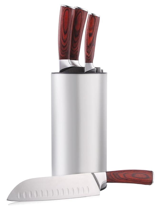 Amazon.com: Hiware - Bloque universal de cuchillos de acero ...