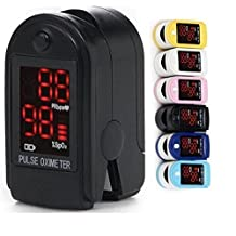 Professional Grade Pulse oximeter + bonus free carrying Case and Lanyard for sports